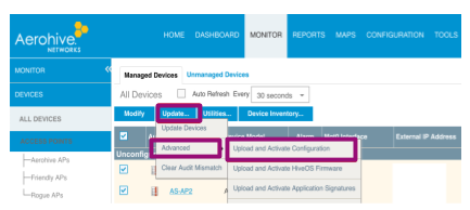 How to sync Aerohive Access Points in HiveManager