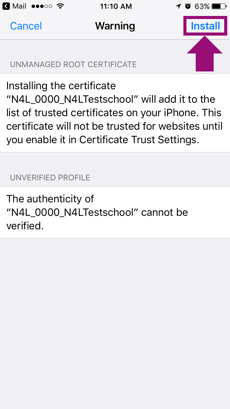 Installing An Ssl Certificate On An Ios Device Manually
